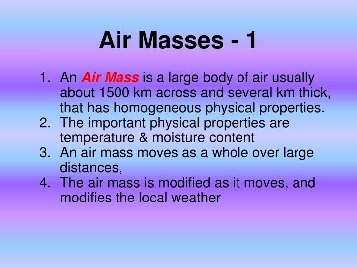 Air Masses - 1