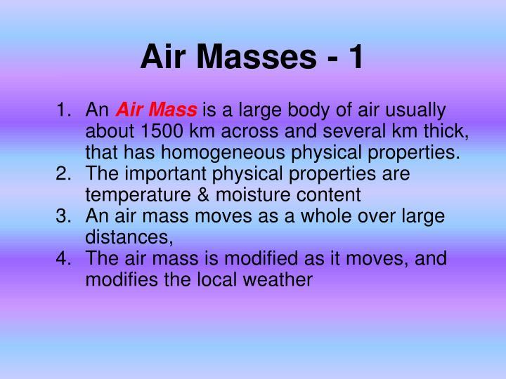 Air Masses - 1