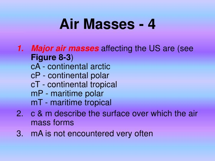 Air Masses - 4