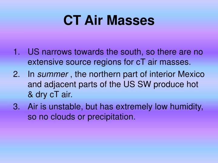 CT Air Masses