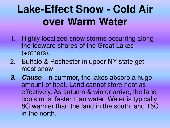 Lake-Effect Snow - Cold Air over Warm Water