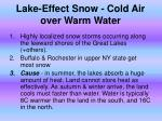 lake effect snow cold air over warm water