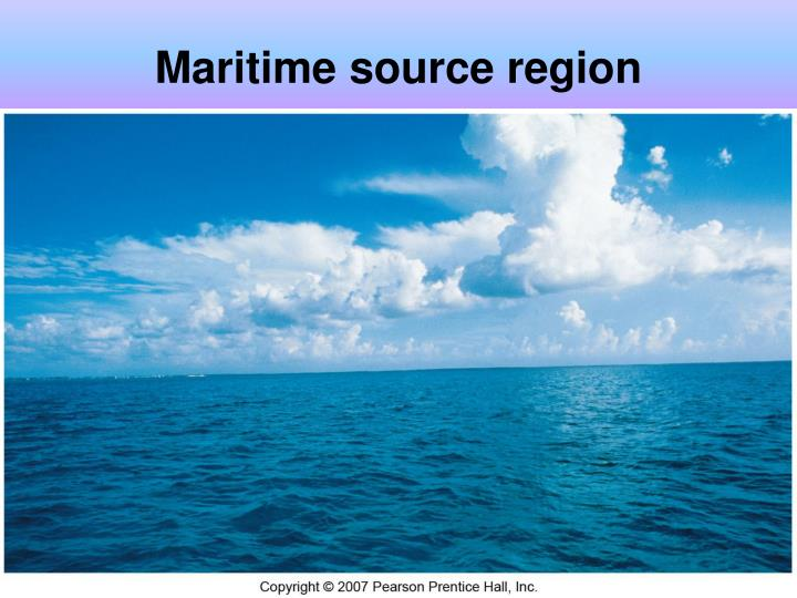 Maritime source region