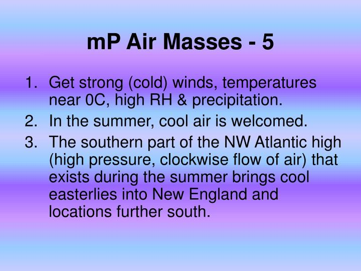 mP Air Masses - 5
