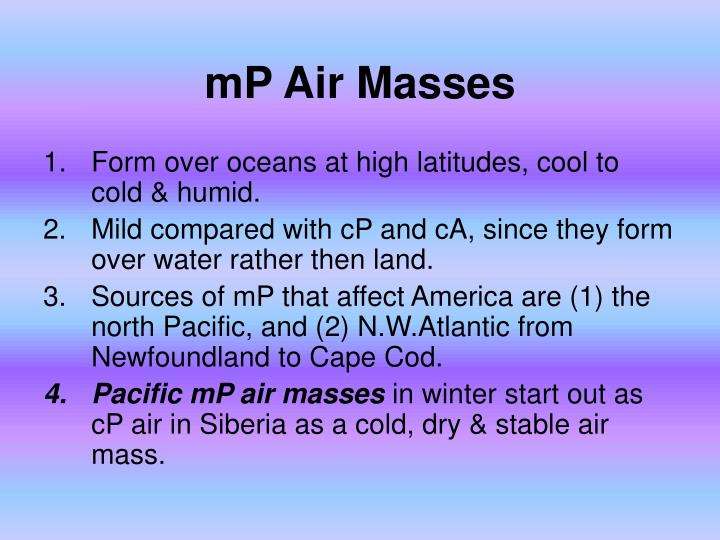 mP Air Masses
