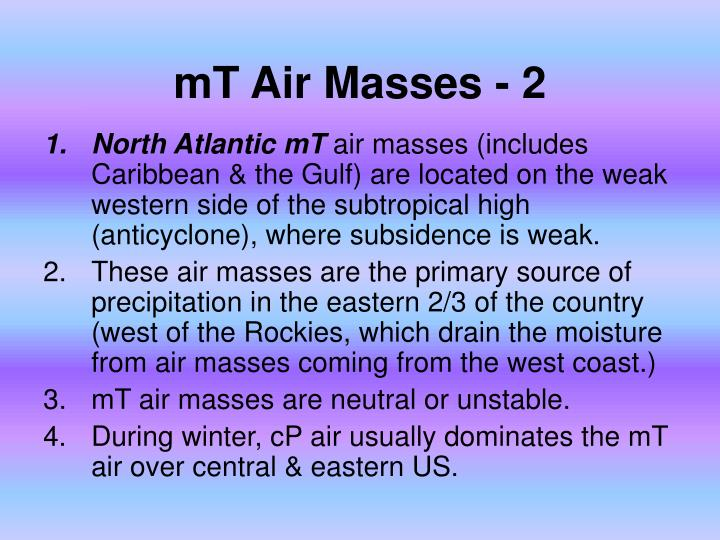 mT Air Masses - 2