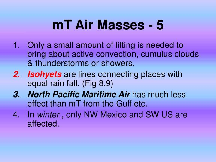 mT Air Masses - 5