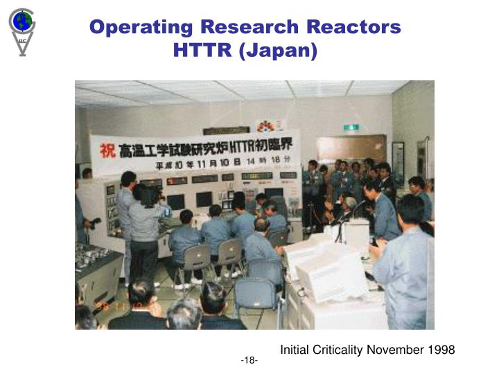 Operating Research Reactors
