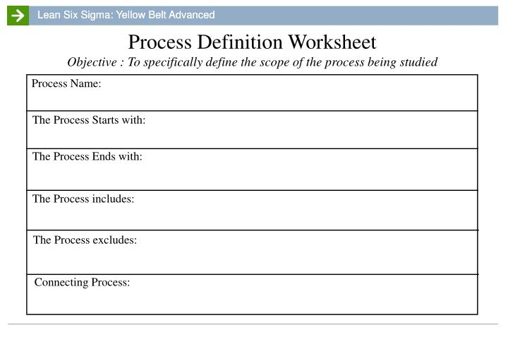 Process Definition Worksheet