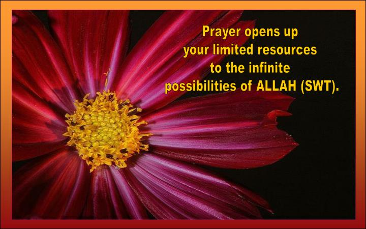 Prayer opens up