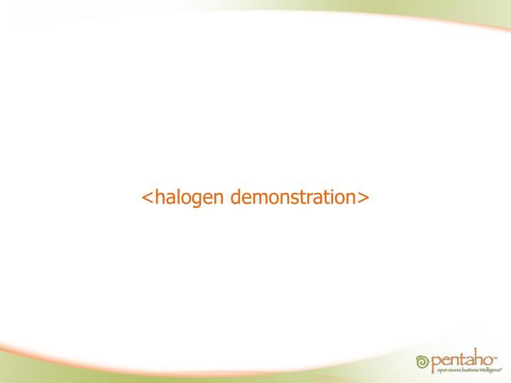 <halogen demonstration>