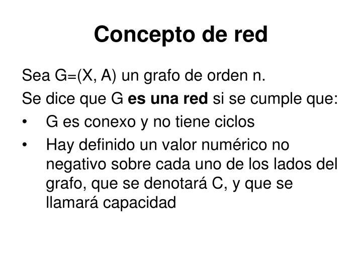Concepto de red