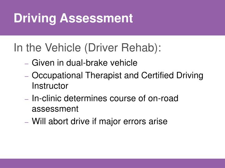 Driving Assessment