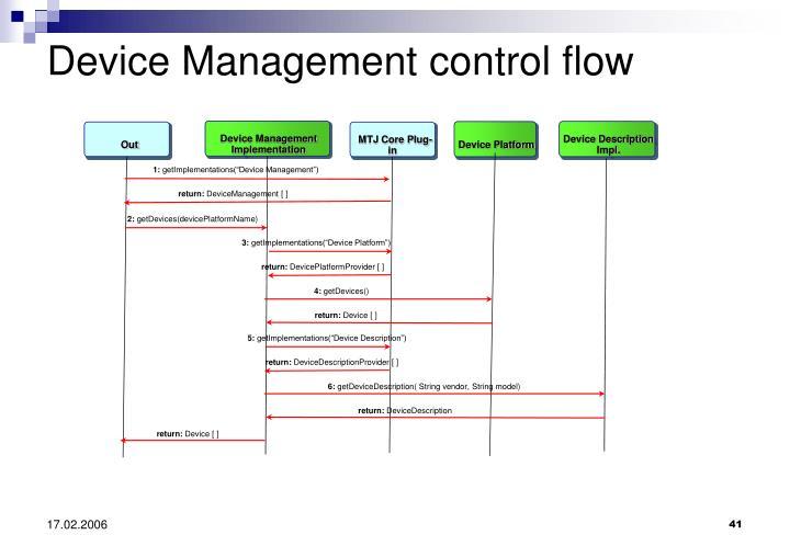 Device Management Implementation