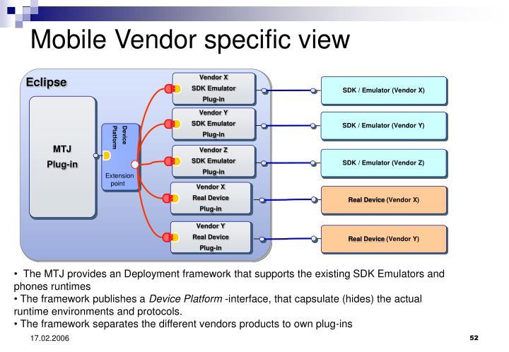 Mobile Vendor specific view