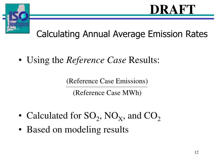 (Reference Case Emissions)
