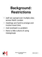 background restrictions