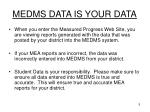 medms data is your data