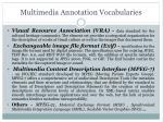 multimedia annotation vocabularies