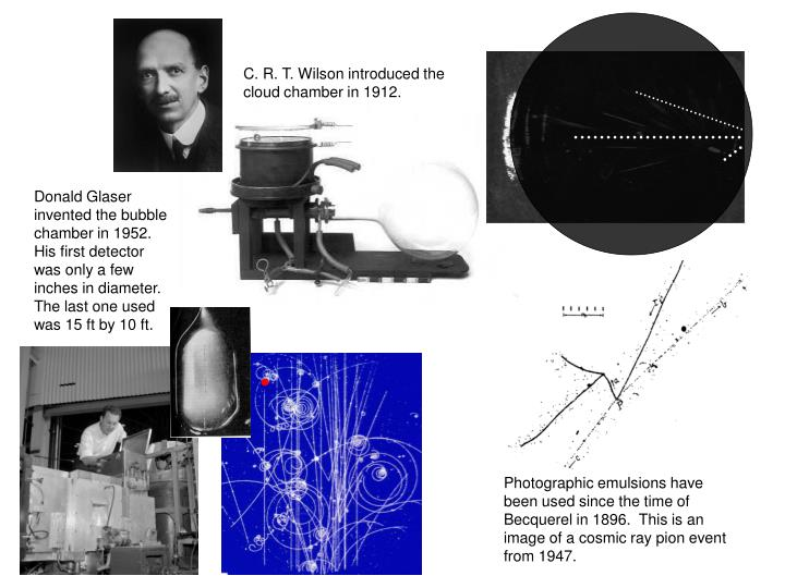 C. R. T. Wilson introduced the cloud chamber in 1912.