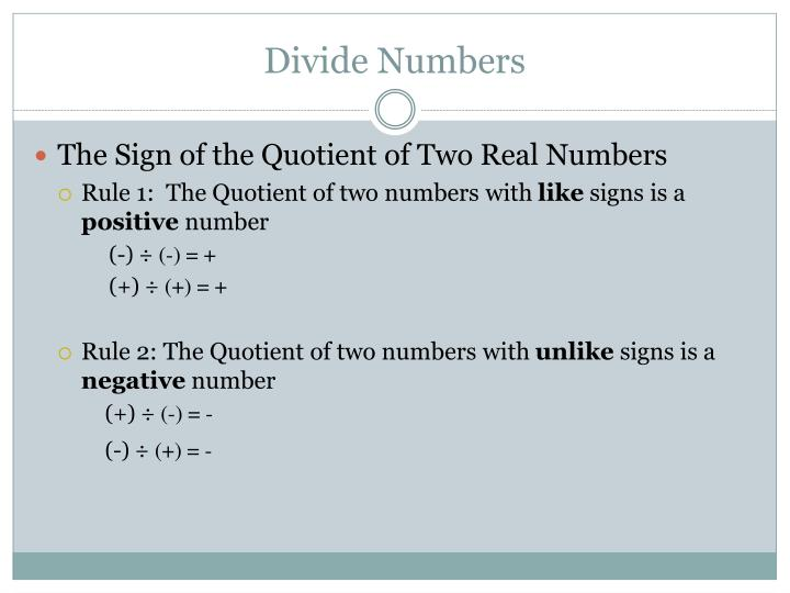 Divide Numbers