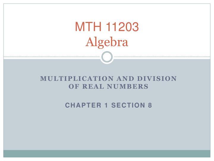 MTH 11203