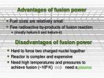 advantages of fusion power