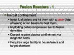 fusion reactors 1