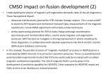 cmso impact on fusion development 2
