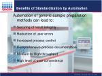 benefits of standardization by automation