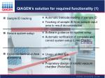 qiagen s solution for required functionality 1