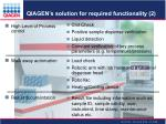 qiagen s solution for required functionality 2
