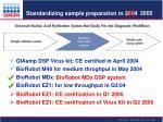 standardizing sample preparation in 20041