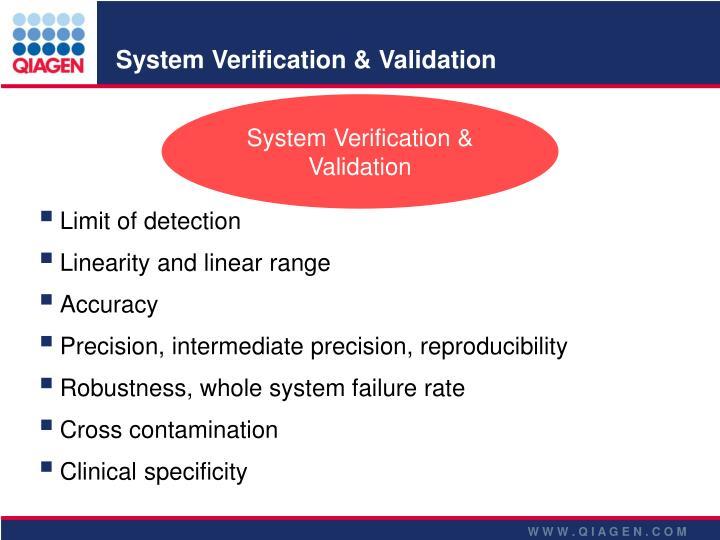 System Verification & Validation