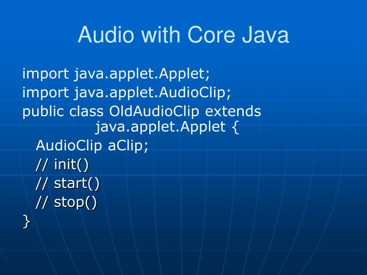 Audio with Core Java