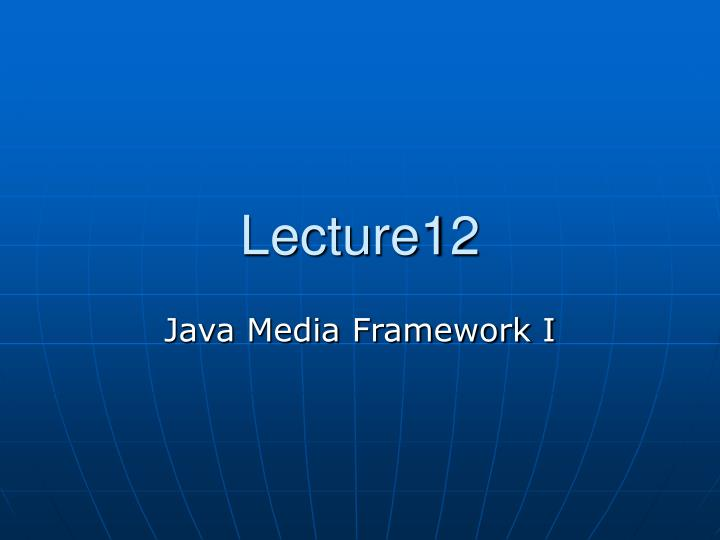 Lecture12