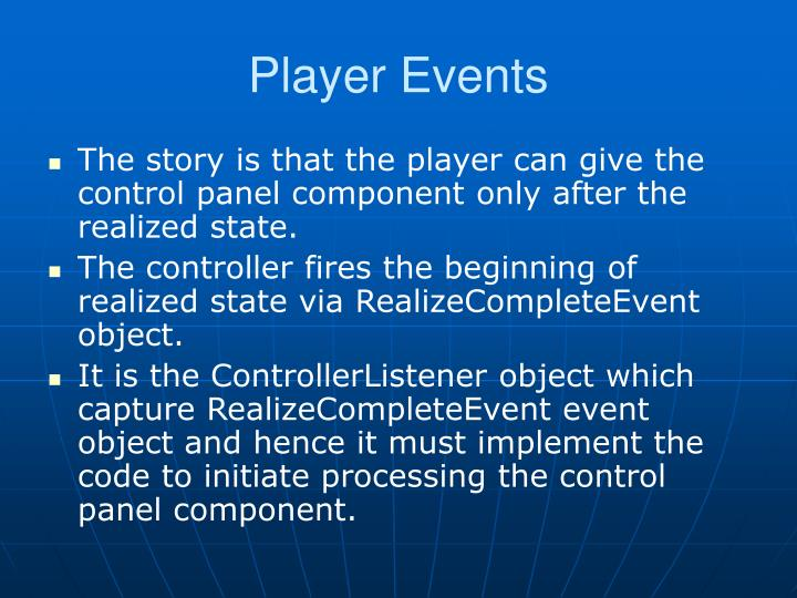 Player Events