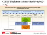 ci ep implementation schedule 2012 2013