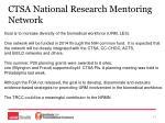 ctsa national research mentoring network