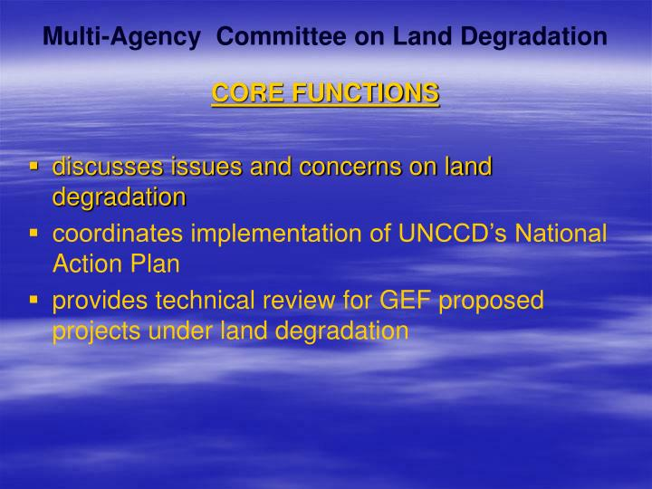 Multi-Agency  Committee on Land Degradation