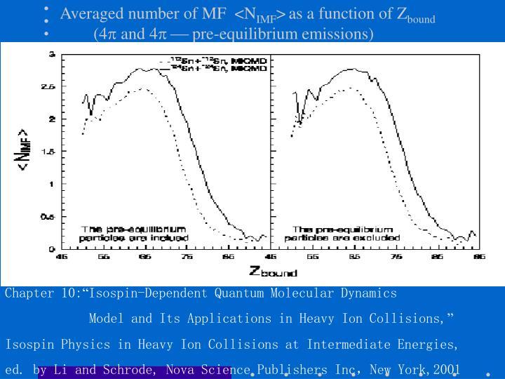 Averaged number of MF  <N