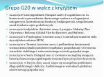 grupa g20 w walce z kryzysem