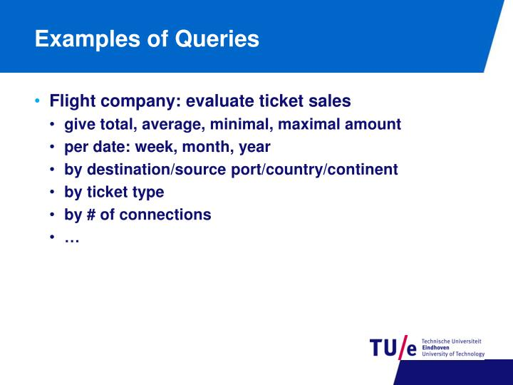 Examples of Queries