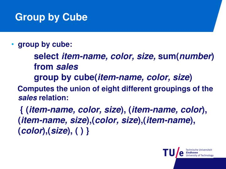 Group by Cube