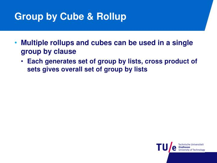 Group by Cube & Rollup