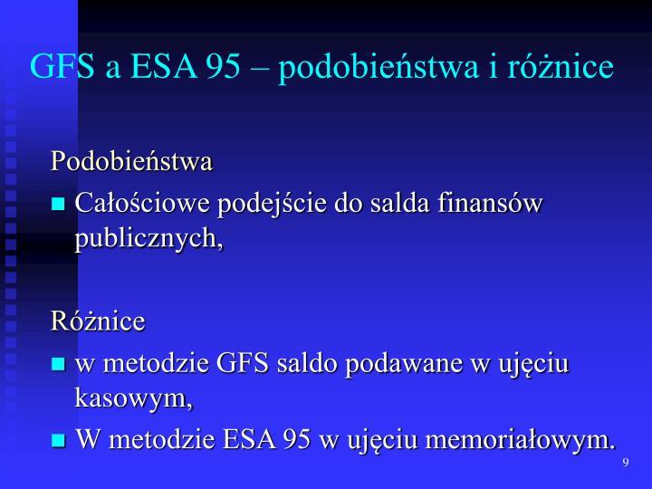 GFS a ESA 95 – podobieństwa i różnice