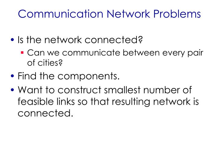 Communication Network Problems