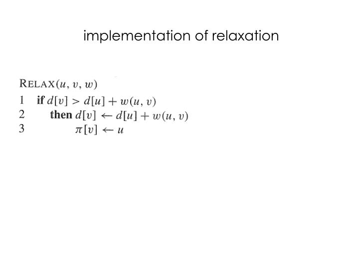 implementation of relaxation
