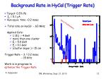 background rate in hycal trigger rate