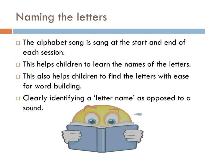 Naming the letters